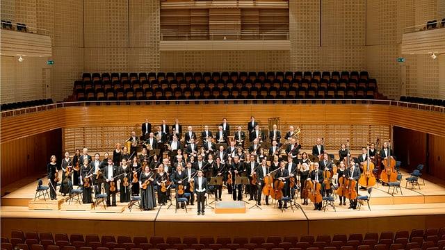 Das Luzerner Sinfonieorchester auf der Bühne des KKL