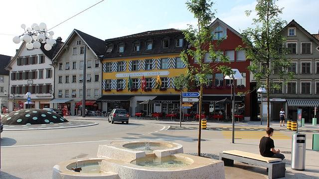 Eine Häuserzeile an der St. Gallerstrasse in Gossau.