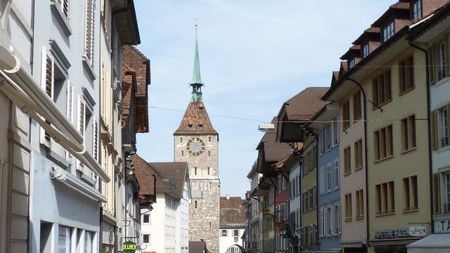 Altstadt mit Turm.