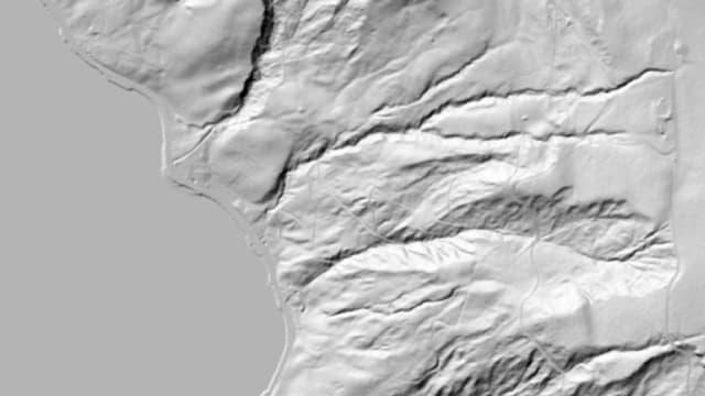 3D-Aufnahme des Ufers am Ägerisee