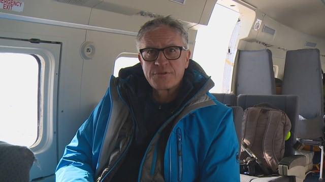 Thomas Stocker unterwegs auf einer Forschungsreise in Grönland