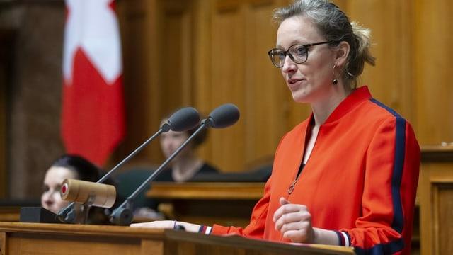 Aline Trede, die neue Fraktionschefin der Grünen.