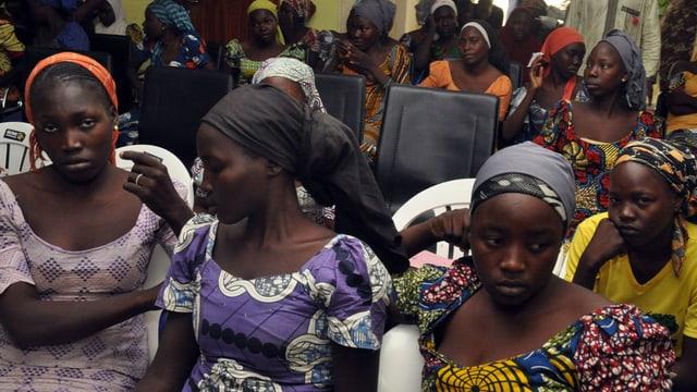 Die entführten Mädchen von Boko Haram.