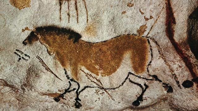 Eine Höhlenmalerei.