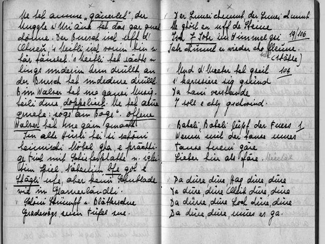 Die Handschrift von Hanny Christen.