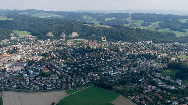 Burgdorf aus der Vogelperspektive.
