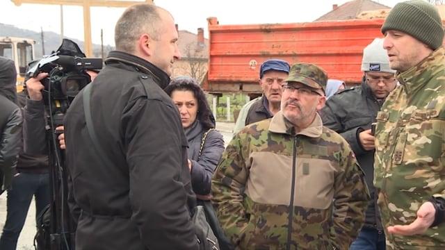 Angehöriger der Swisscoy in Nord Kosovo.