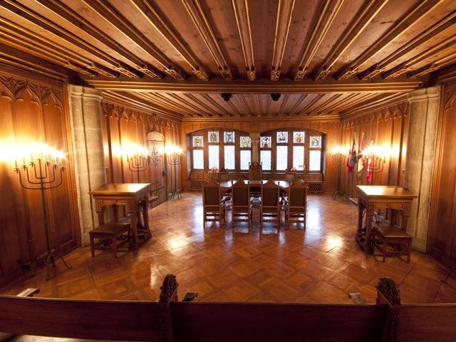 In diesem Saal wurde vor 300 Jahren der Frieden von Baden ausgehandelt.