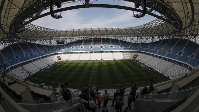Leeres Fussballstadion Wolgograd-Arena.