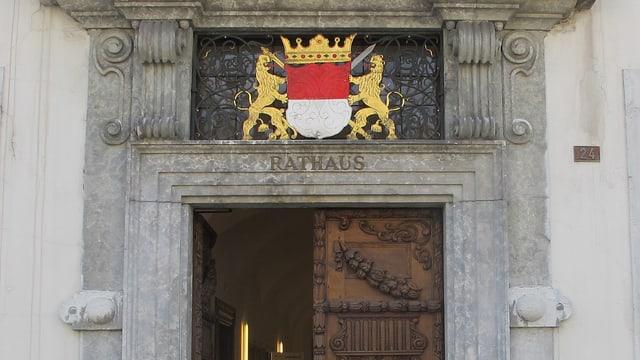 Wappen des Kantons Solothurn am Rathaus Solothurn