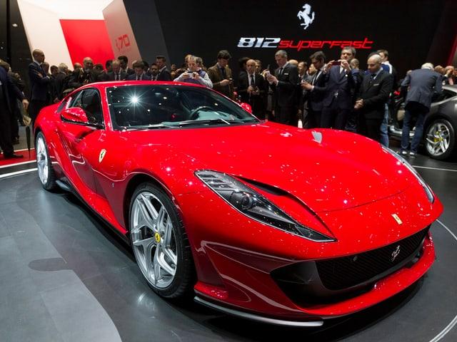 Roter schneller Ferrari