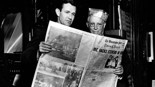 Philip L. Graham (l) mit dem kalifornischen Bankier Eugene Meyer, der die «Post» 20 Jahre zuvor ersteigert hatte.