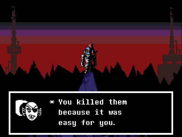 """""""Du hast sie getötet, weil es einfach für dich war"""", meint Undyne."""