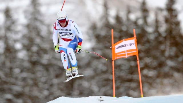 Marc Berthod durant la cursa rapida a Wengen