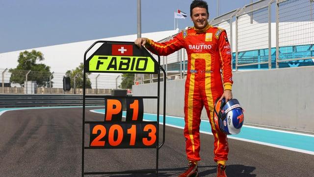 Stolzer GP2-Gewinner nach dem letzten Rennen in Abu Dhabi: Fabio Leimer aus Rothrist.