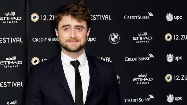 Daniel Radcliffe vor ZFF-Fotowand.