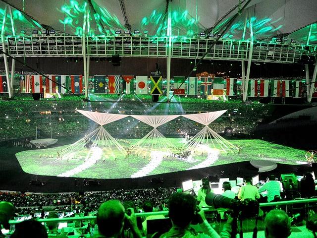 Olympische Eröffnungsfeier.