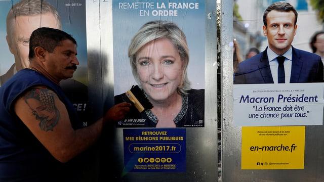 Ils dus candidats per l'elecziun decisiva: Marine Le Pen u Emmanuel Macron.