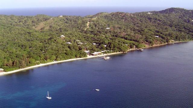 Maletg simbolic d'ina part da la costa da Honduras.