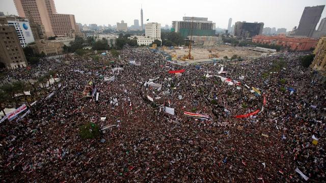 Demonstrationen auf dem Tahrirplatz am 18. November 2011 in Kairo.