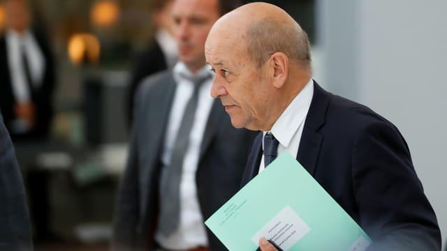 Frankreichs Aussenminister Le Drian