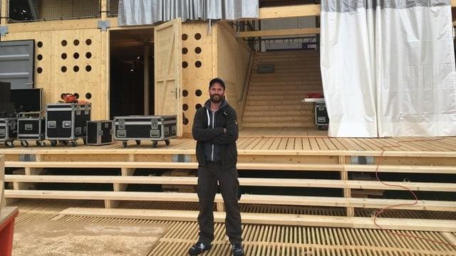 Veit Kälin Bauchef steht im Theaterhaus Zentral