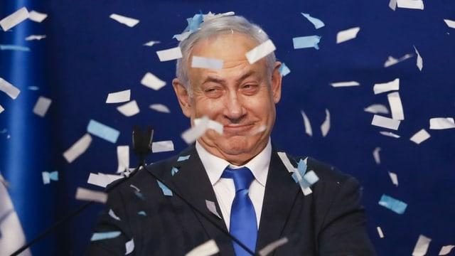 Netanjahu bei Siegesfeier im Likud-Hauptquartier