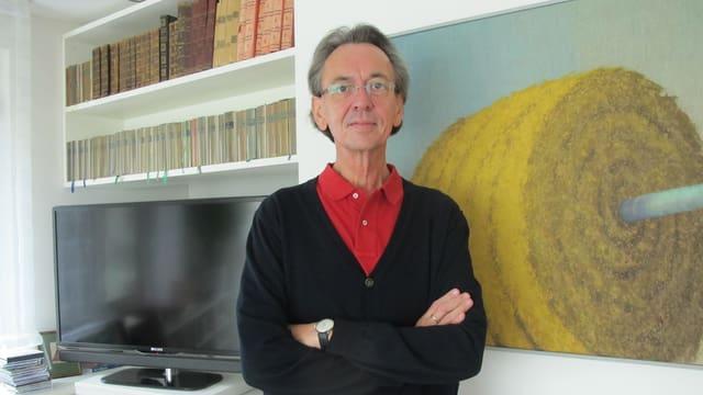 Soziologe Franz Schultheis in seiner Wohnung