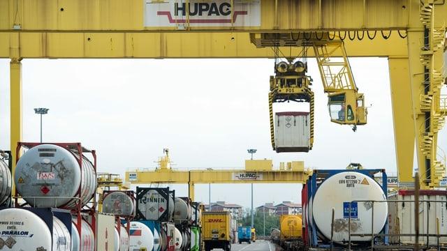 Firmengelände von Hupac in Norditalien.
