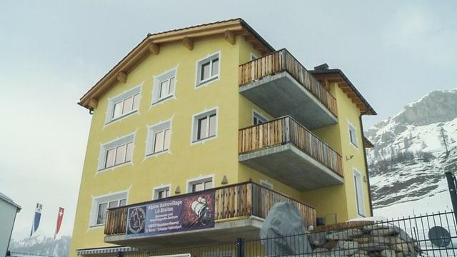 Fotografia dal stabiliment da l'Alpine Astrovillage Lü Stailas.