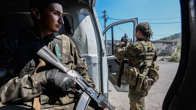 Pro-russische Rebellen in Donezk