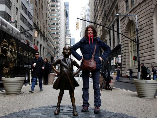 Das kleine Mädchen aus Bronze.