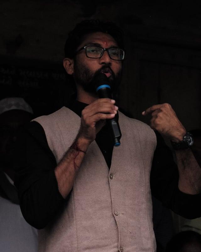 Porträtaufnahme von Jignesh Mevani.