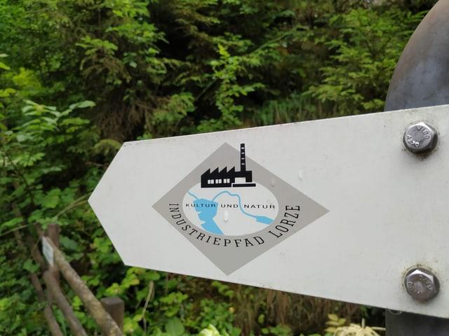 Schild mit Aufschrift Lorzenpfad