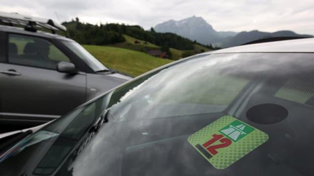 Auto mit Vignette