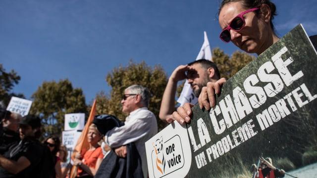«Die Jagd, ein tödliches Problem»: Am 13. Oktober wurde in Paris gegen das Jagen demonstriert.