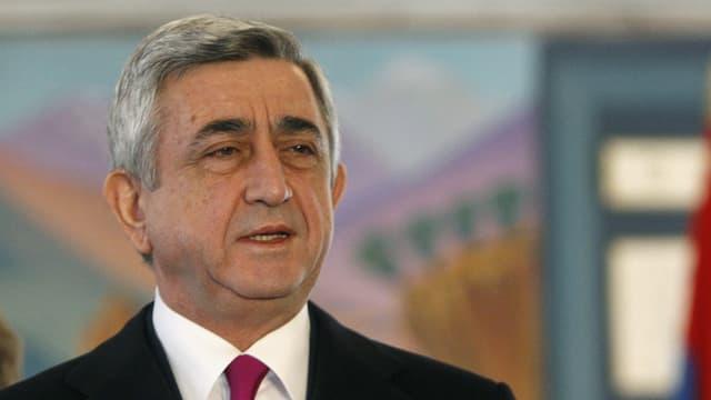 Der gewählte Präsident Sersch Sargsjan
