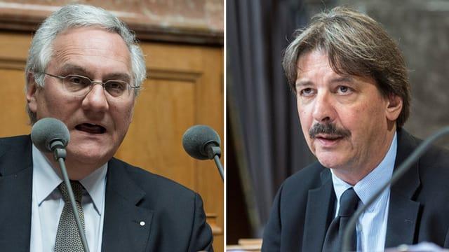 Thomas Müller (SVP) undPaul Rechsteiner (SP)