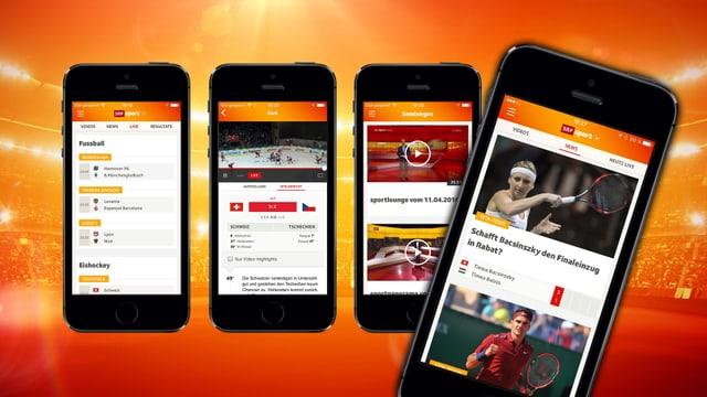 Ein Blick auf die verschiedenen Rubriken der App.