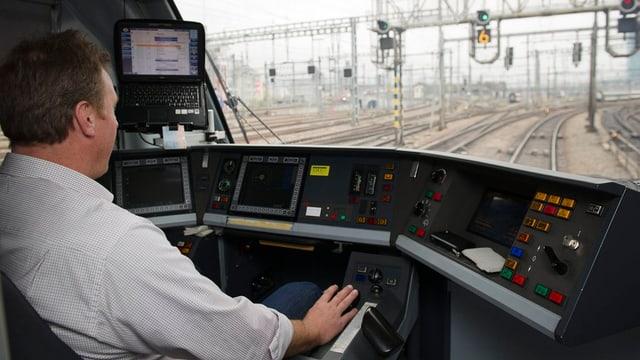 Locomotivist en ina locomotiva.