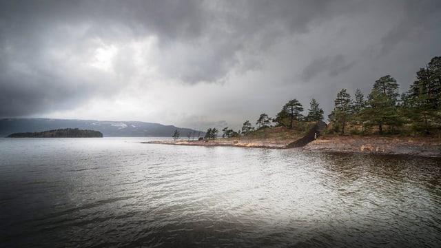 Die Gedenkstätte auf Utøya.