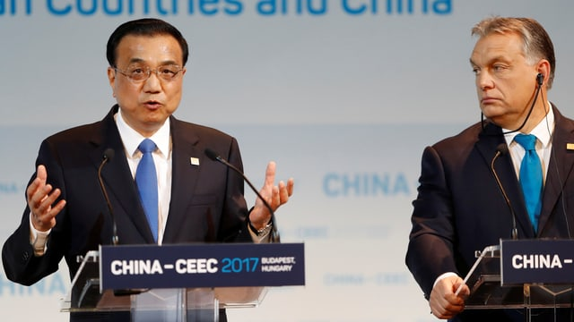 Der chinesische Premier Li und sein ungarischer Amtskollege Orban