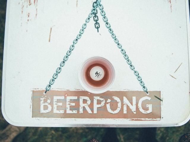 Beerpong tisch