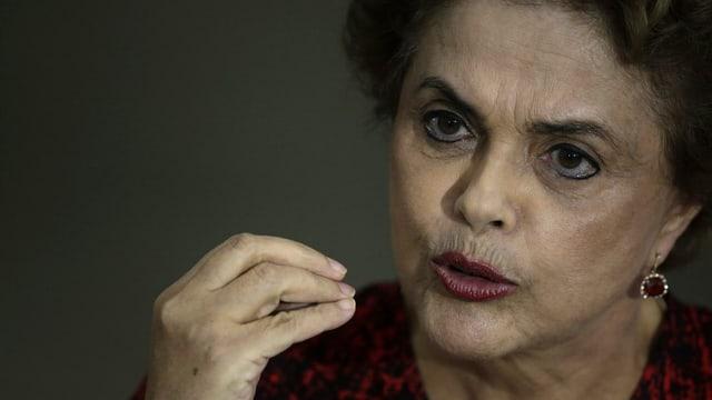 Brasiliens Präsidentin Rouseff an einer Pressekonferenz im März.