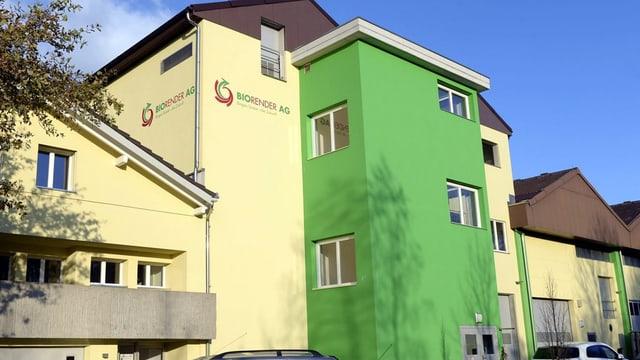 Sicht auf das Firmengebäude der Biorender AG.
