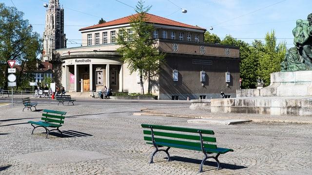 Eine Aussenaufnahme der Kunsthalle Bern.