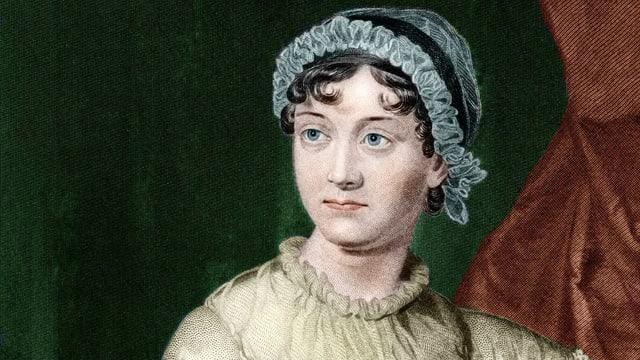 Gemaltes Porträt von Jane Austen.
