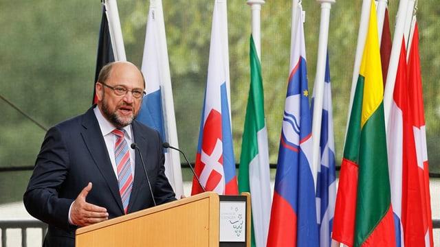 Il president dal parlament da l'UE Martin Schulz tegna pled a las festivitads a Schengen.