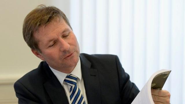 Luzerns Finanzdirektor Marcel Schwerzmann.