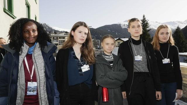 Klimaaktivisten nach ihrer PK